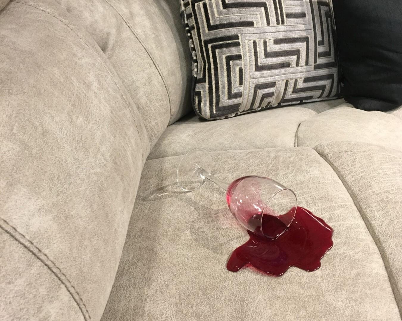 impregneerspray bank wijnvlek